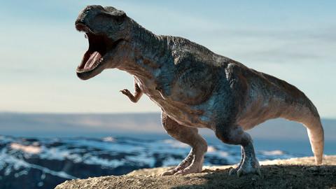 Tyrannosaurus Rex (Rigged) 3D model