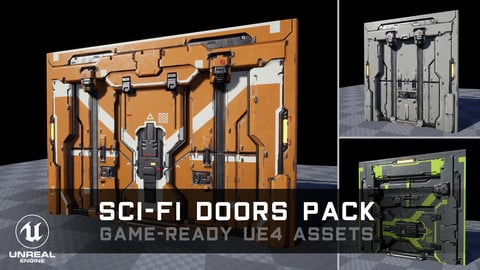 Sci-Fi Doors Pack - Game-Ready UE4 Assets