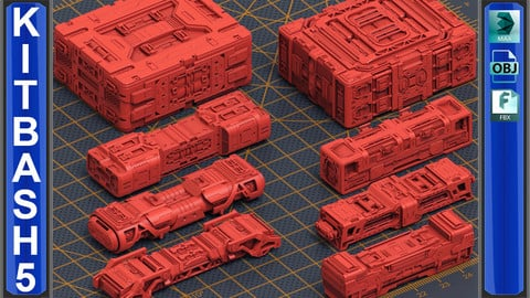 Mech Warrior Hard Surface Kitbash 5 of 20