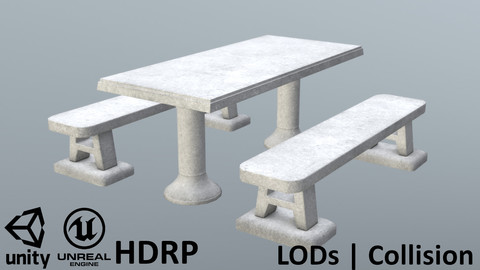 Concrete Picnic Table from Croatia