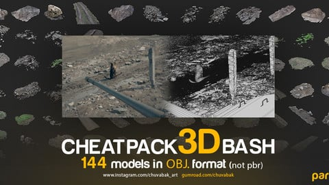 CHEATPACK_3DBASH_GRASS_GROUND_ROCKS
