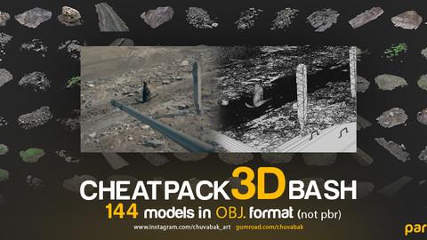 CHEATPACK_3DBASH_GRASS_GROUND_ROCKS
