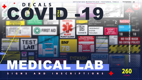Medical Lab DECALS PACK Covid - 19