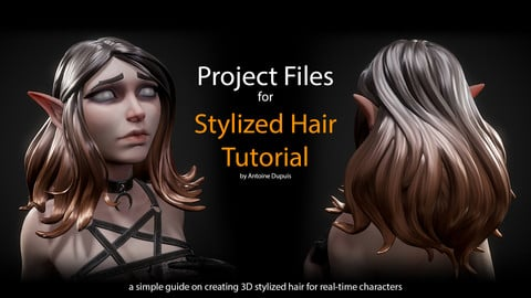 Stylized Hair Tutorial - PROJECT FILES