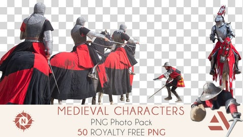 PNG Photo Pack: Medieval Characters