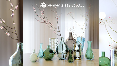 Glass Vases Collection 01