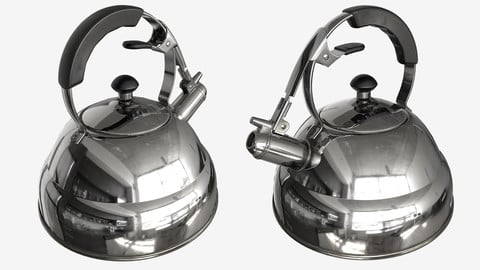 Low-poly PBR Whistling Kettle - 007