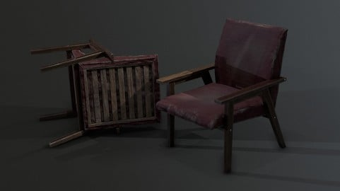 Armchair Abandoned Wood