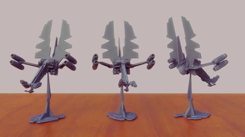 Wing Blade Hunter Interceptor 3D Print Ready - .ZPR, .OBJ, .STL files