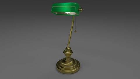 Noir Office Lamp