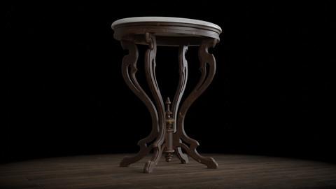 Antique Pedestal Table 001