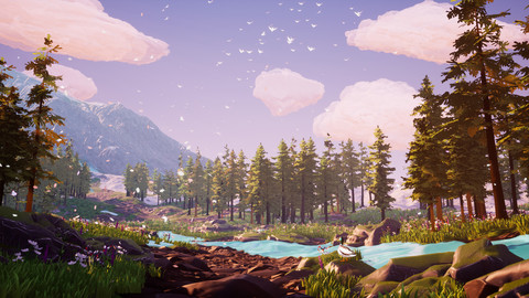 UE4 | Stylized Mountain Meadow Environment