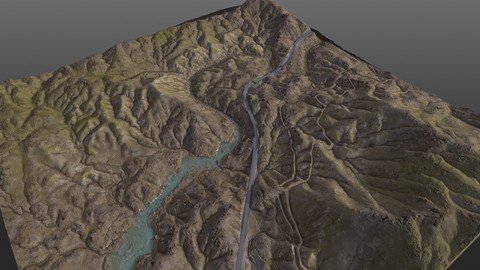 Valley 8K Terrain PBR Texture