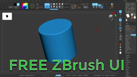 FREE - Custom zBrush UI