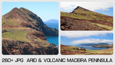 ARID & VOLCANIC MADEIRA PENINSULA - Photo reference pack - 260+ JPG