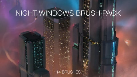 Night Windows Photoshop Brush Pack