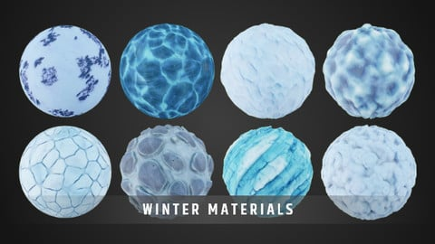 Stylized Fantasy Winter Material Pack