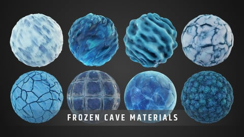 Stylized FrozenCave Material Pack