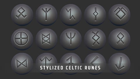 Stylized Celtic Runes
