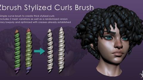 Zbrush Stylized Curls Brush