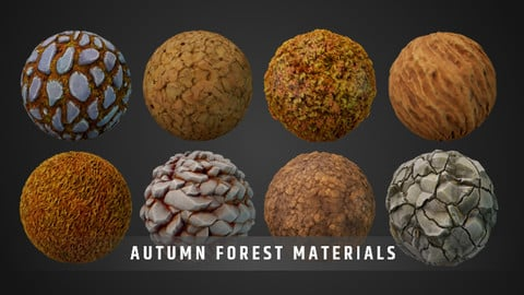 Stylized Fantasy Autumn Forest Material Pack