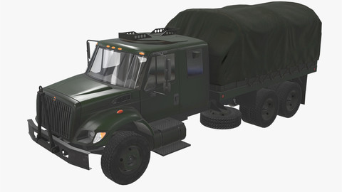 Military Truck Green