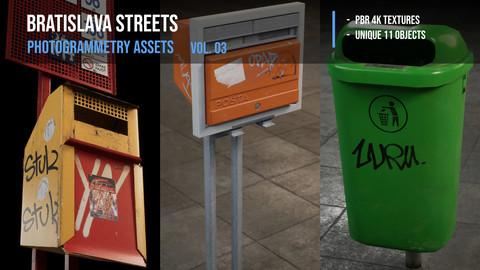 City Street - photogrammetry 3D assets vol. 03