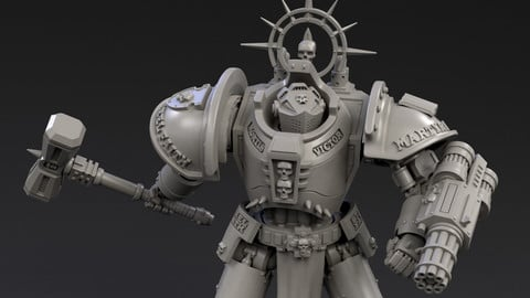 DeamonSlayer-Knight Multipart Kit for 3D Print