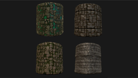 Stylized Wall Materials - Substance Painter