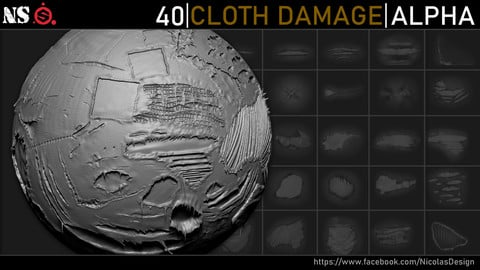 Cloth Damage Alphas