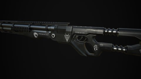Double barrel shotgun (Game ready)