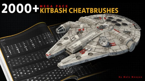 2000+ KITBASH CHEATBRUSHES (MEGA PACK) by Mels Mneyan