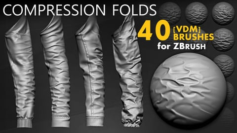 Leather & Fabric Compression Folds