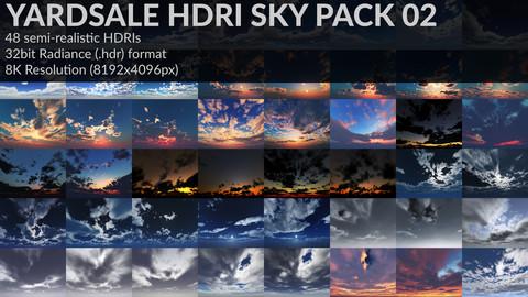 YARDSALE HDRI SKY PACK 02||48HDRIs