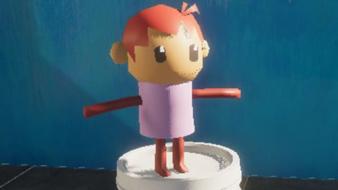 Low poly friends - Gregorio Marshmallow Kid
