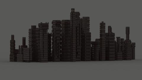 Random Modular Sci-Fi City Kitbash