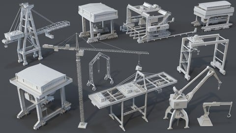 Cranes - 11 pieces