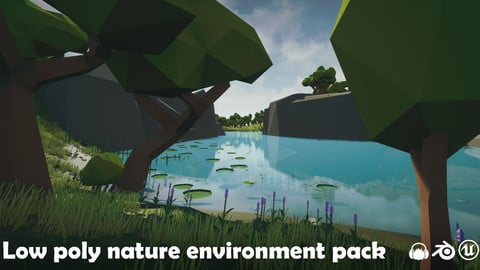 Low poly nature environment pack
