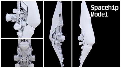 Spaceship model-1 | FBX, Blend file