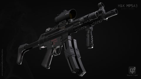 H&K MP5A3 pack (standard factory version and accessories)