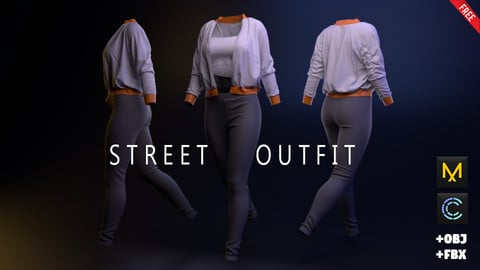 FREE Street Outfit MD Project + Obj + Fbx
