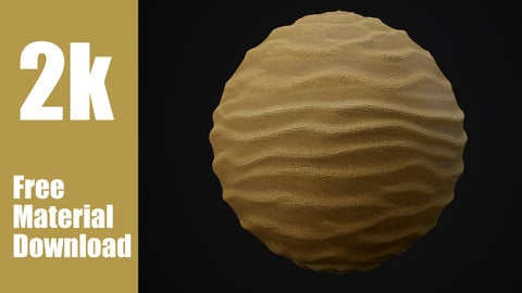 Realistic Sand Material Texture - Photoscan