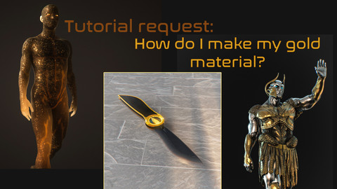 Gold material design