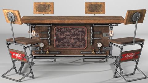 Steampunk Table Set