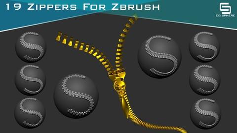 19 Zipper Curve Brush ( Zbrush )