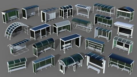 Bus Stops - 24 pieces