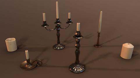 Candle Holder - PBR Model