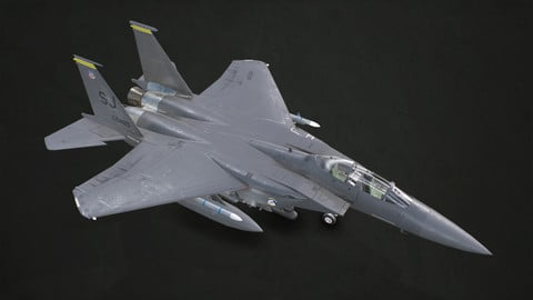 McDonnell Douglas F-15E Strike Eagle - Low Poly
