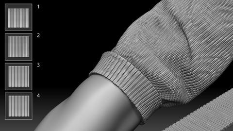 Sweater Sleeve Brush for Zbrush