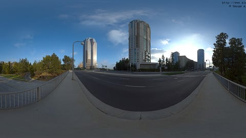 Cityscape HDRi Pano 025 + 26 backplates